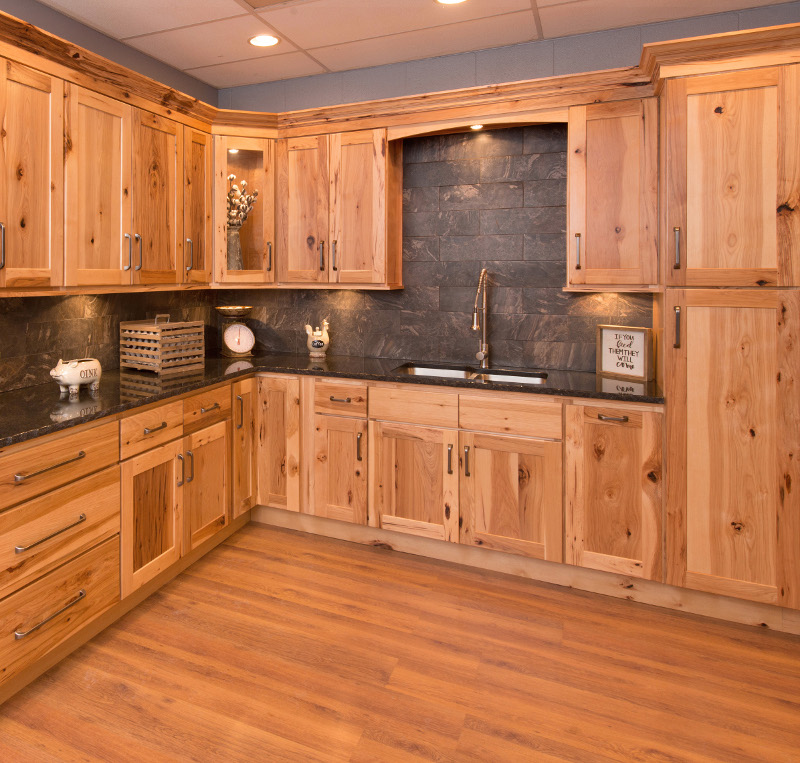 Hickory Shaker Cabinets 10 x 10 Kitchen Layout - Discount ...